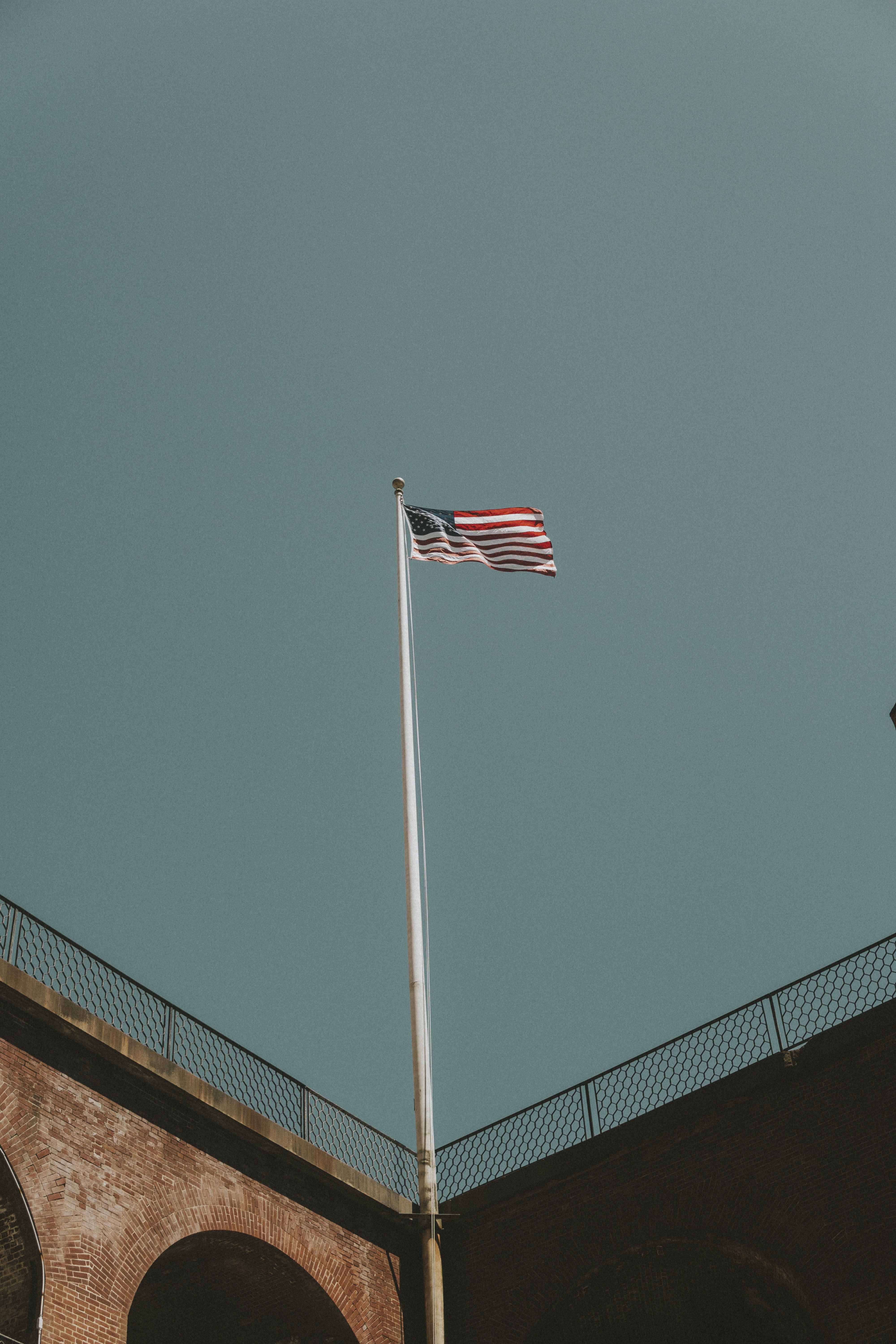 flag of U.S.A. on top of flagpole