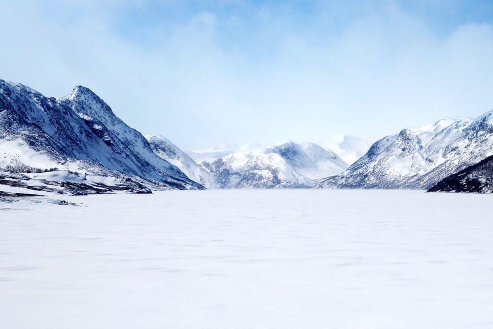 landscape photo of mountain covered with snow