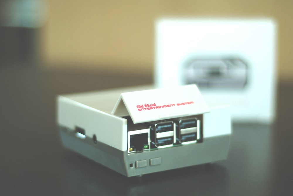 selective focus photography of white USB port
