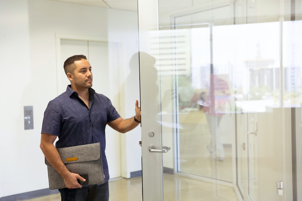 Man Male Door And Office Hd Photo By Linkedin Sales Navigator