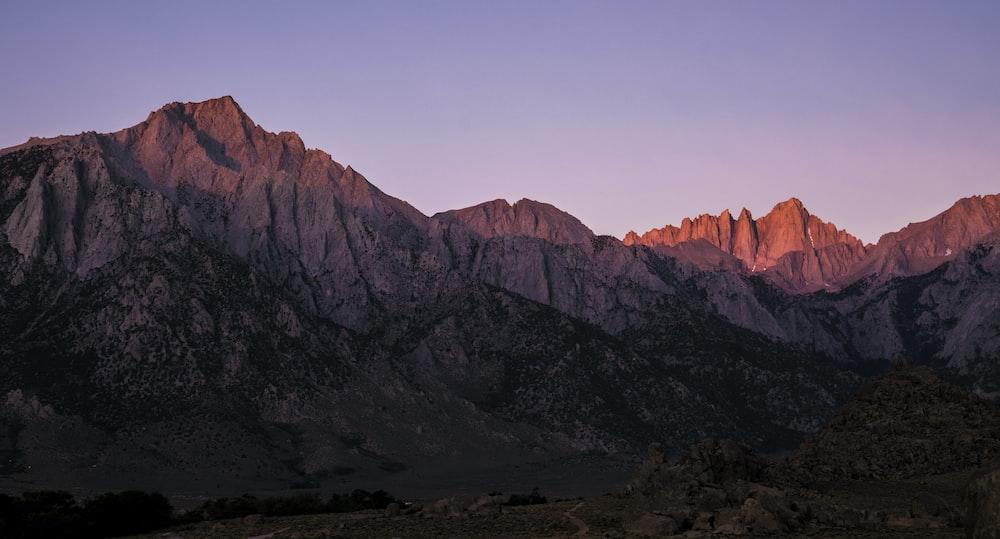 brown mountain at daytime