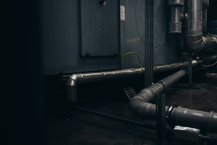 draining pipes