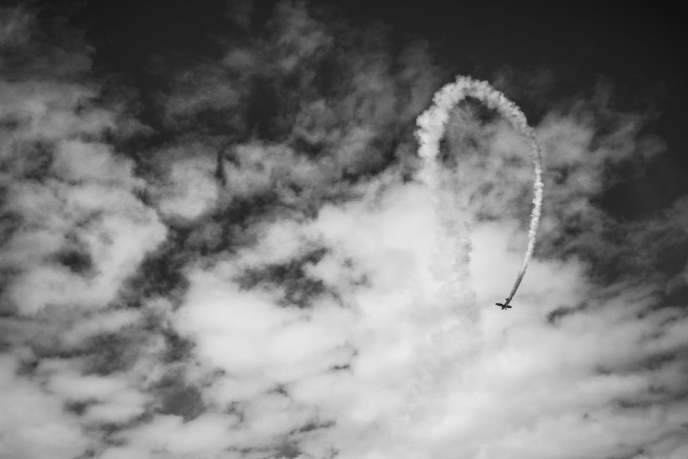 jet flying on cloudy sky
