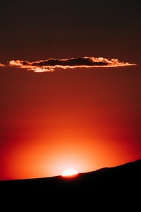 silhouette photography of cloud during sunset