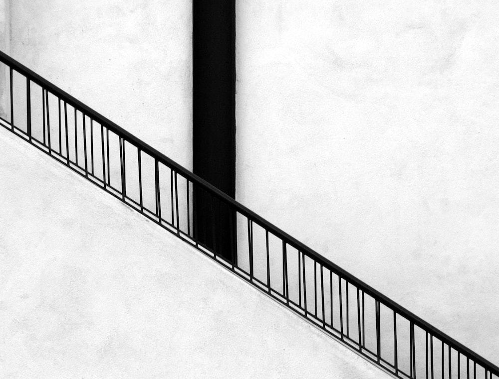 black steel stair rails