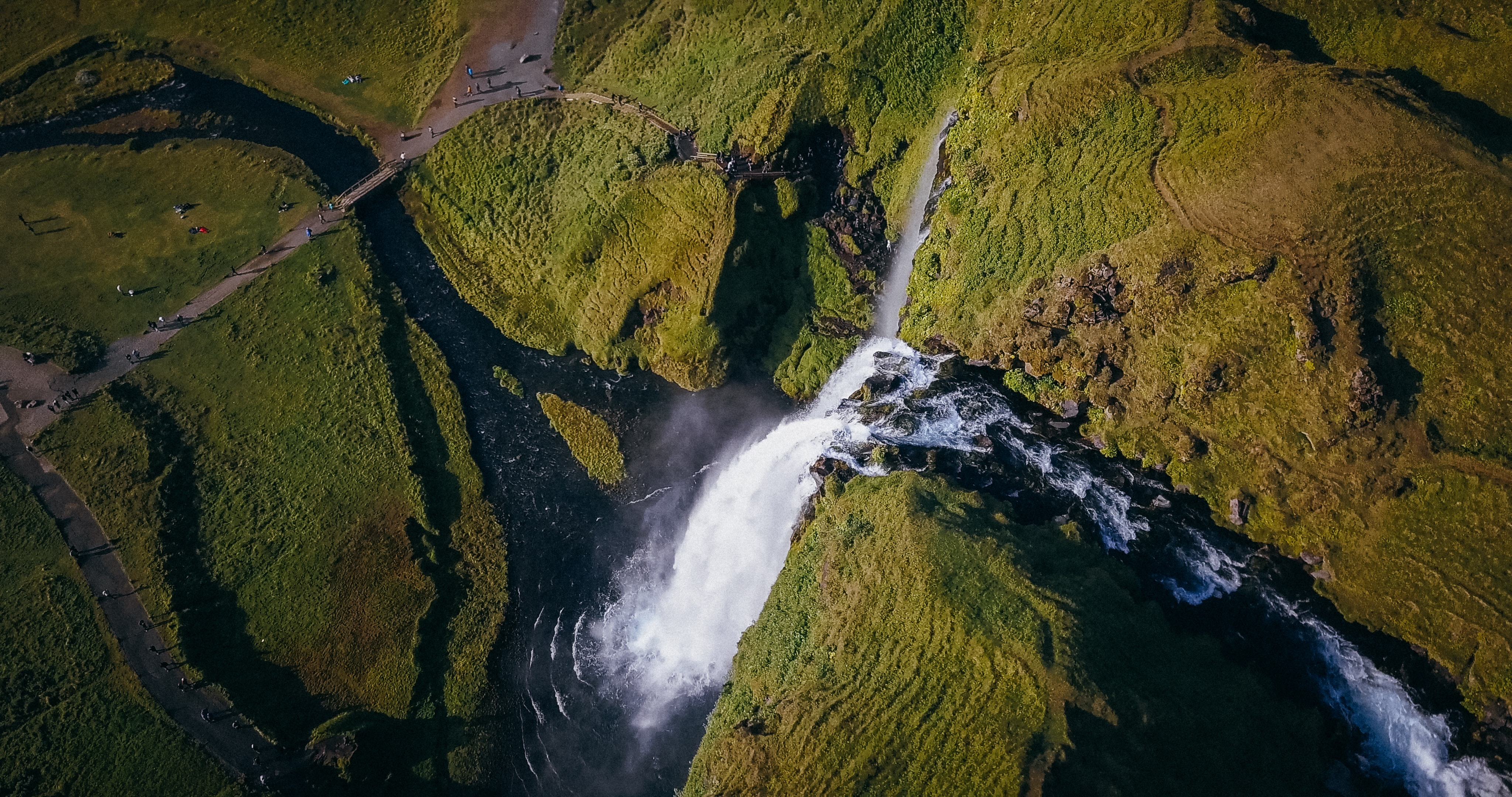 waterfalls aerial photography