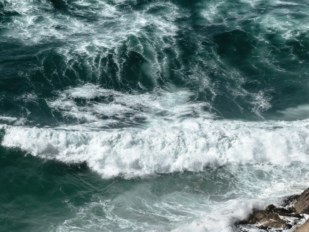 photo of sea waves