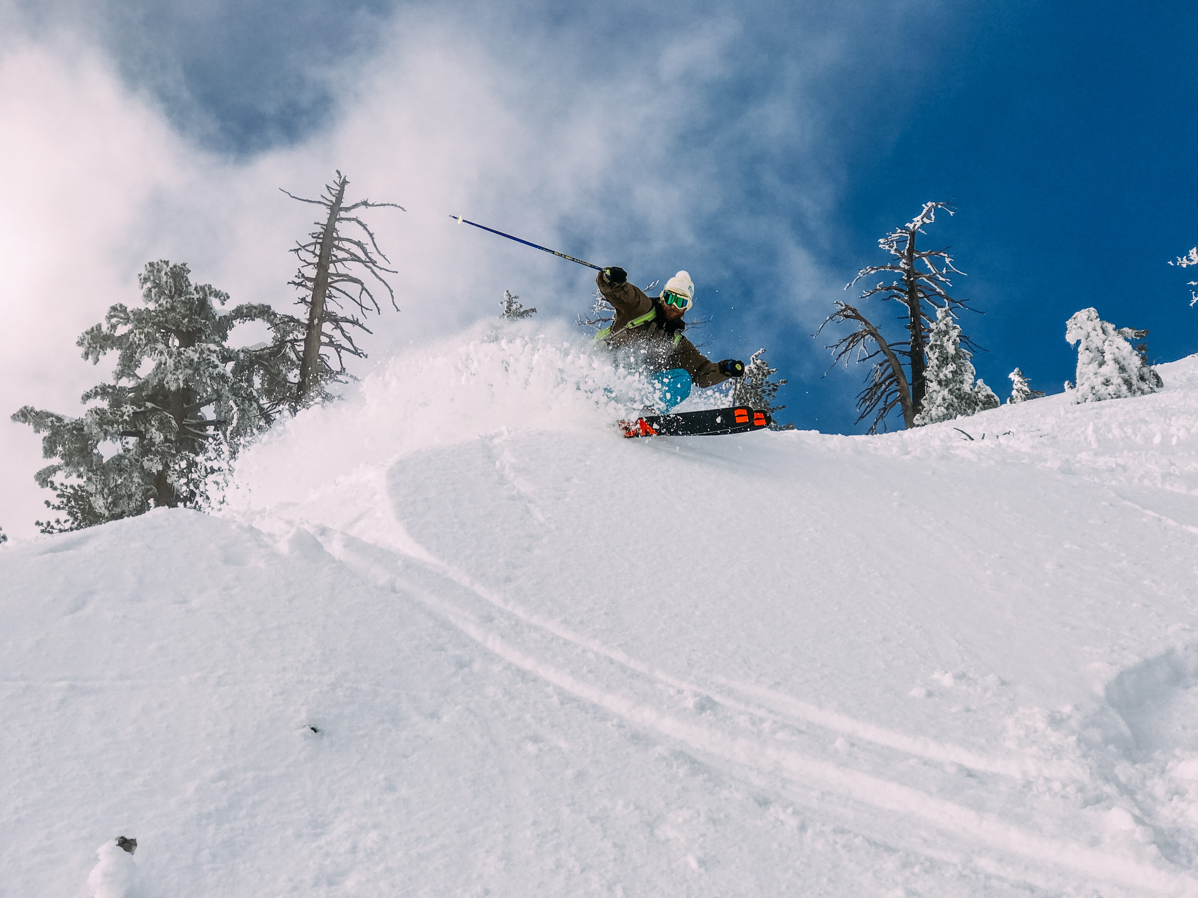 person skiing on snow-covered hill
