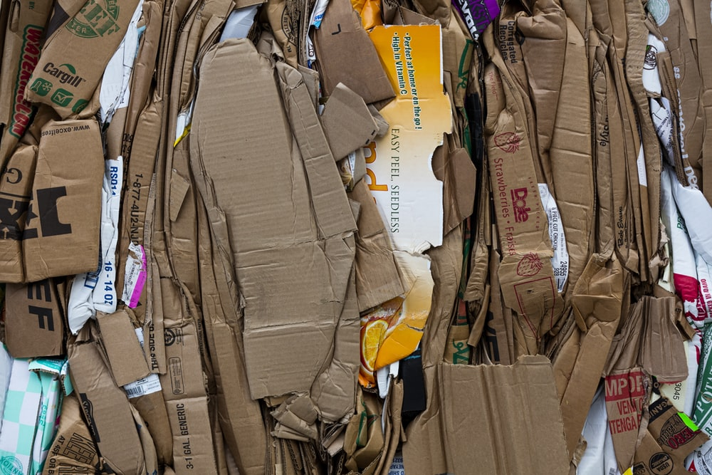 cardboard lot