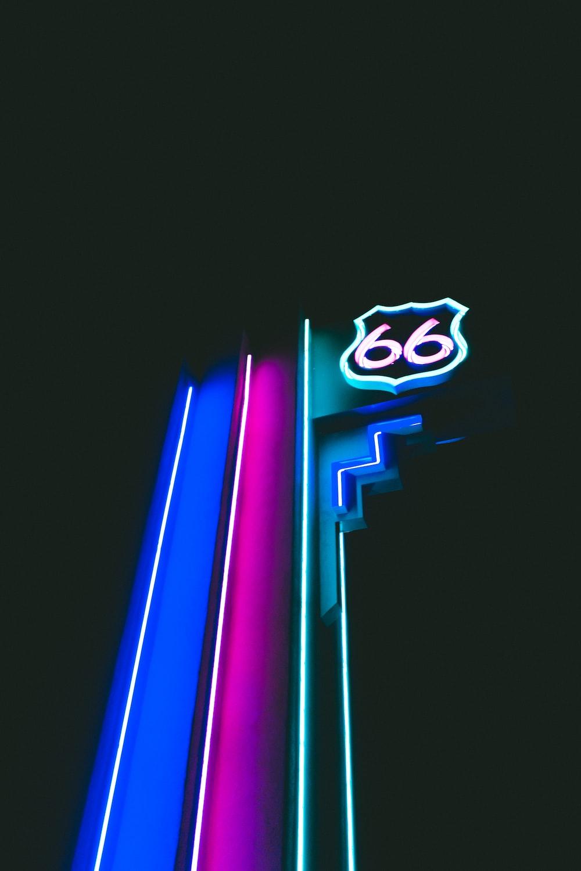 green neon light signage