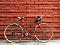 road bike against wall