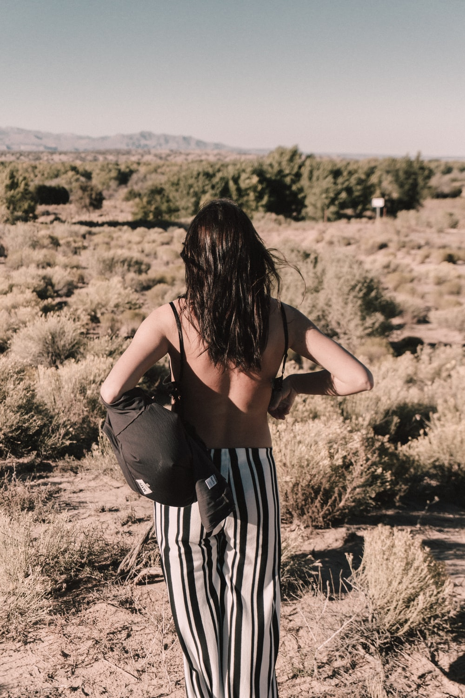 woman wearing bag