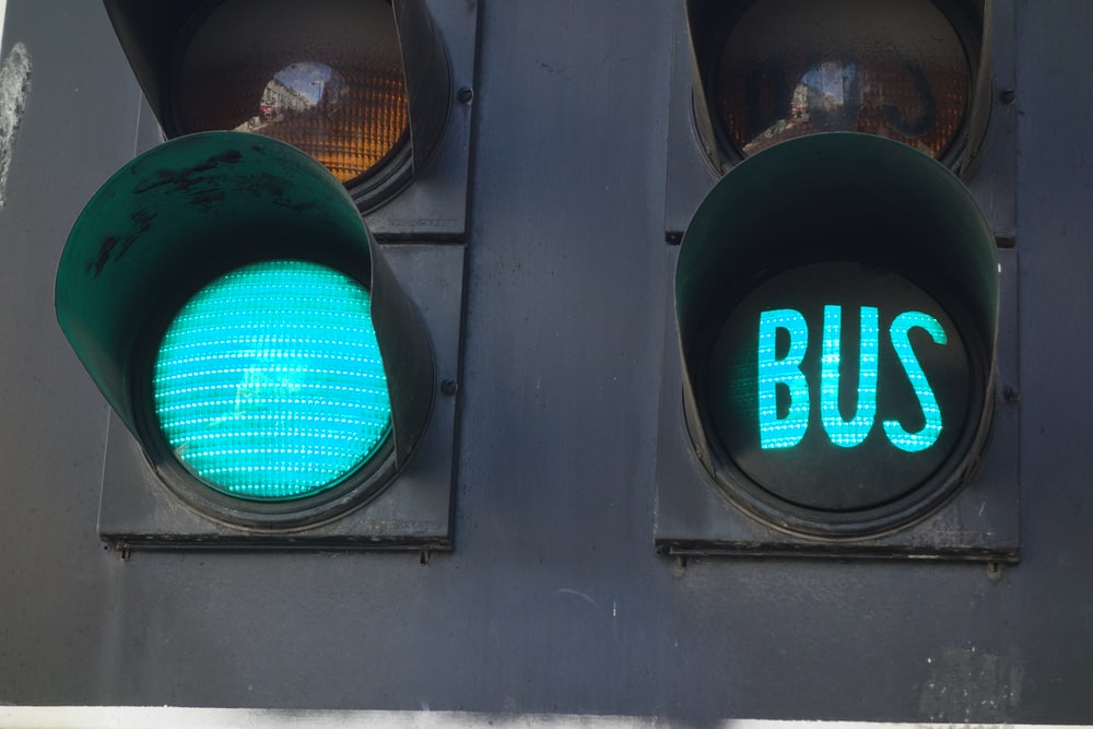 green light bus display