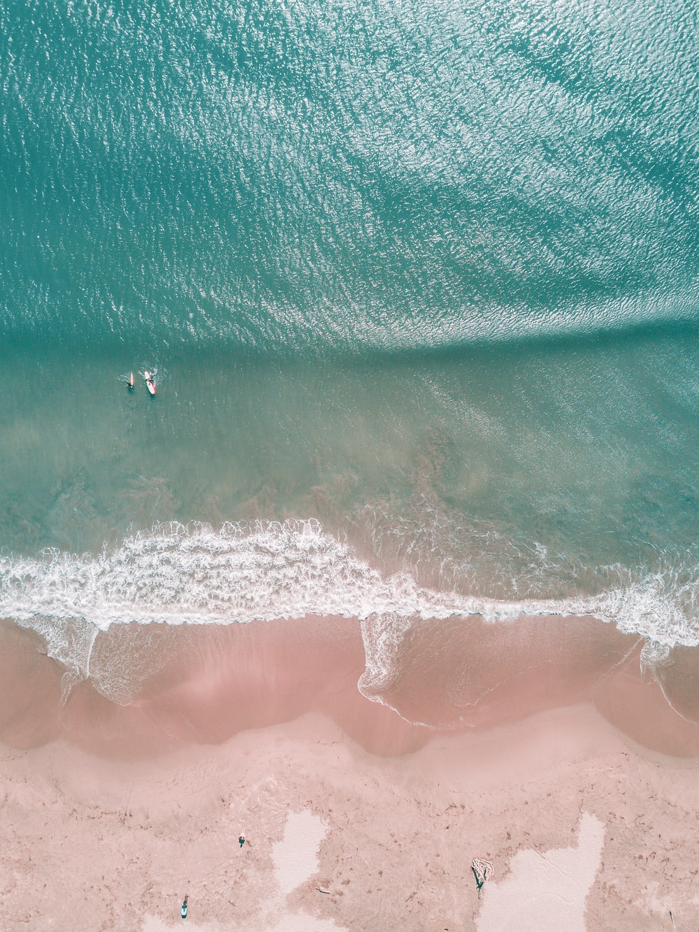 aerial photography of people surfing on seashore during daytime
