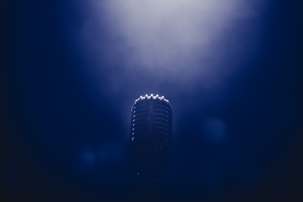 low light stage microphone photography