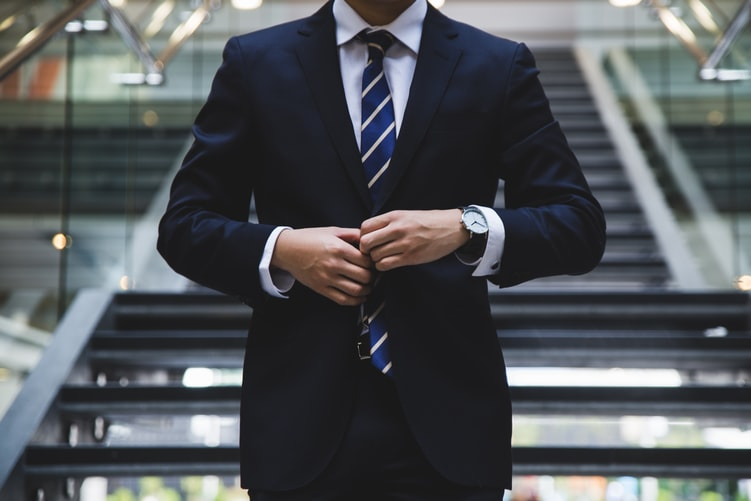 Business person wearing a suit