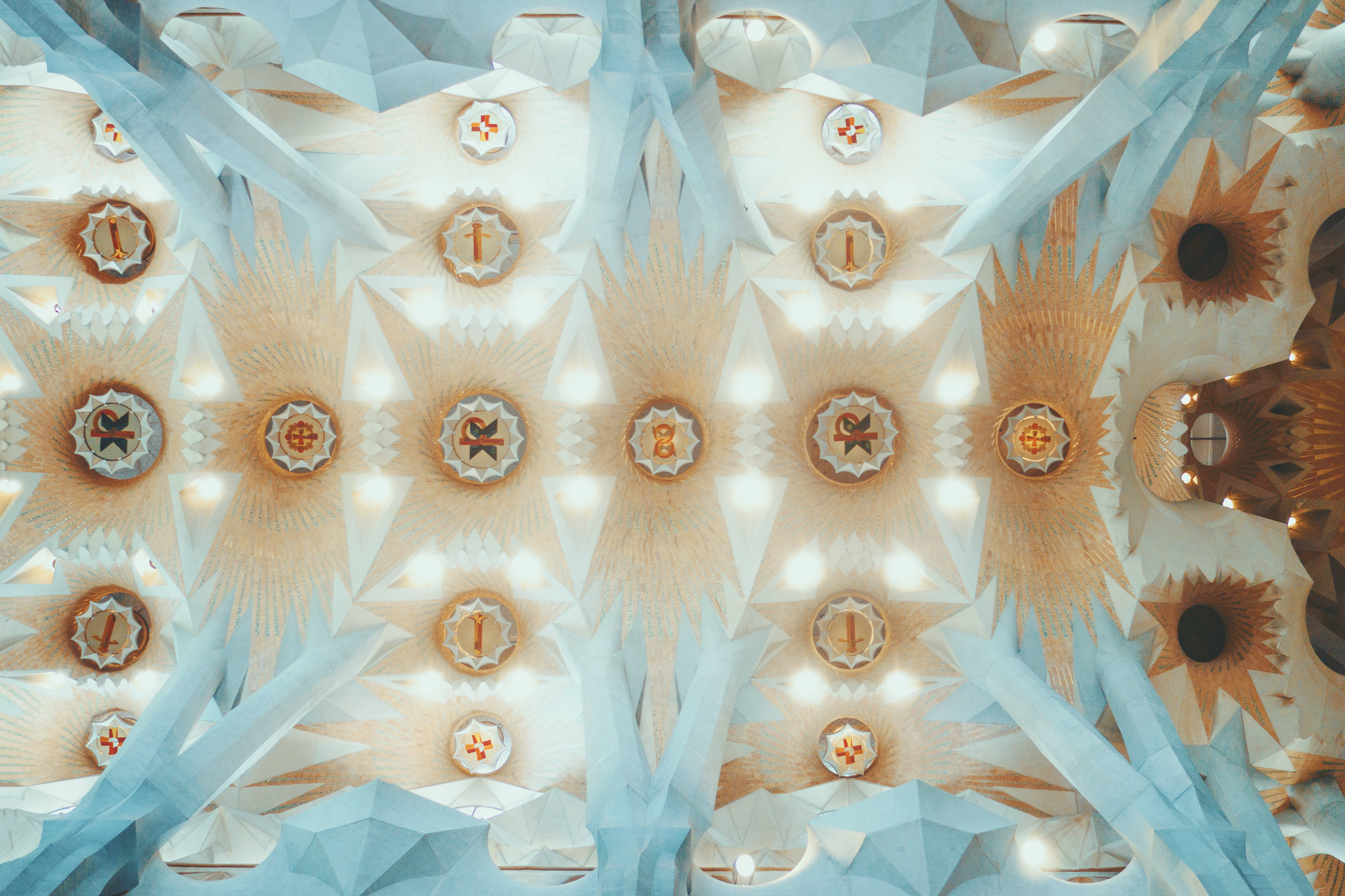 kaleidoscope photography of ceiling