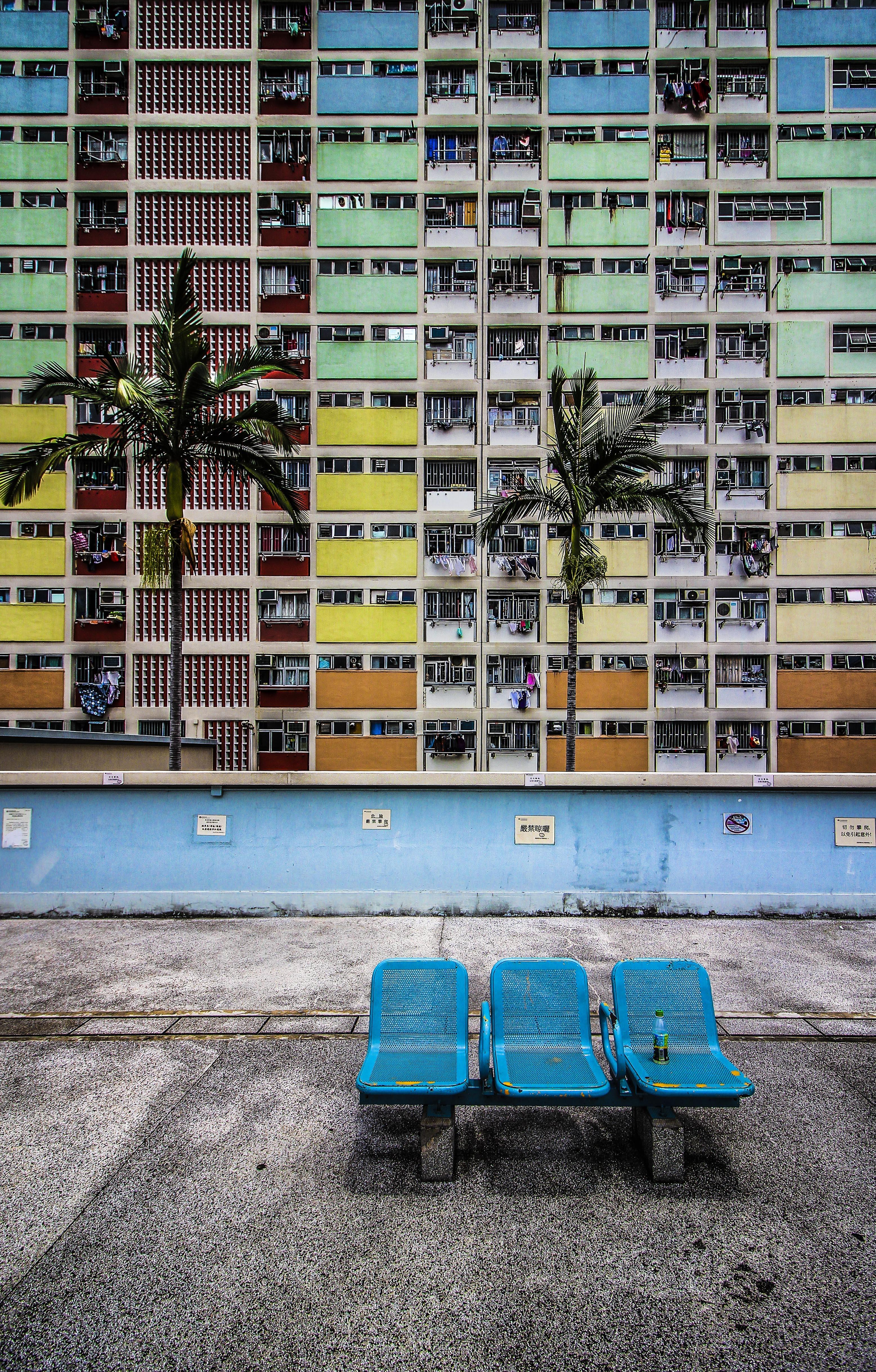 multicolored concrete building