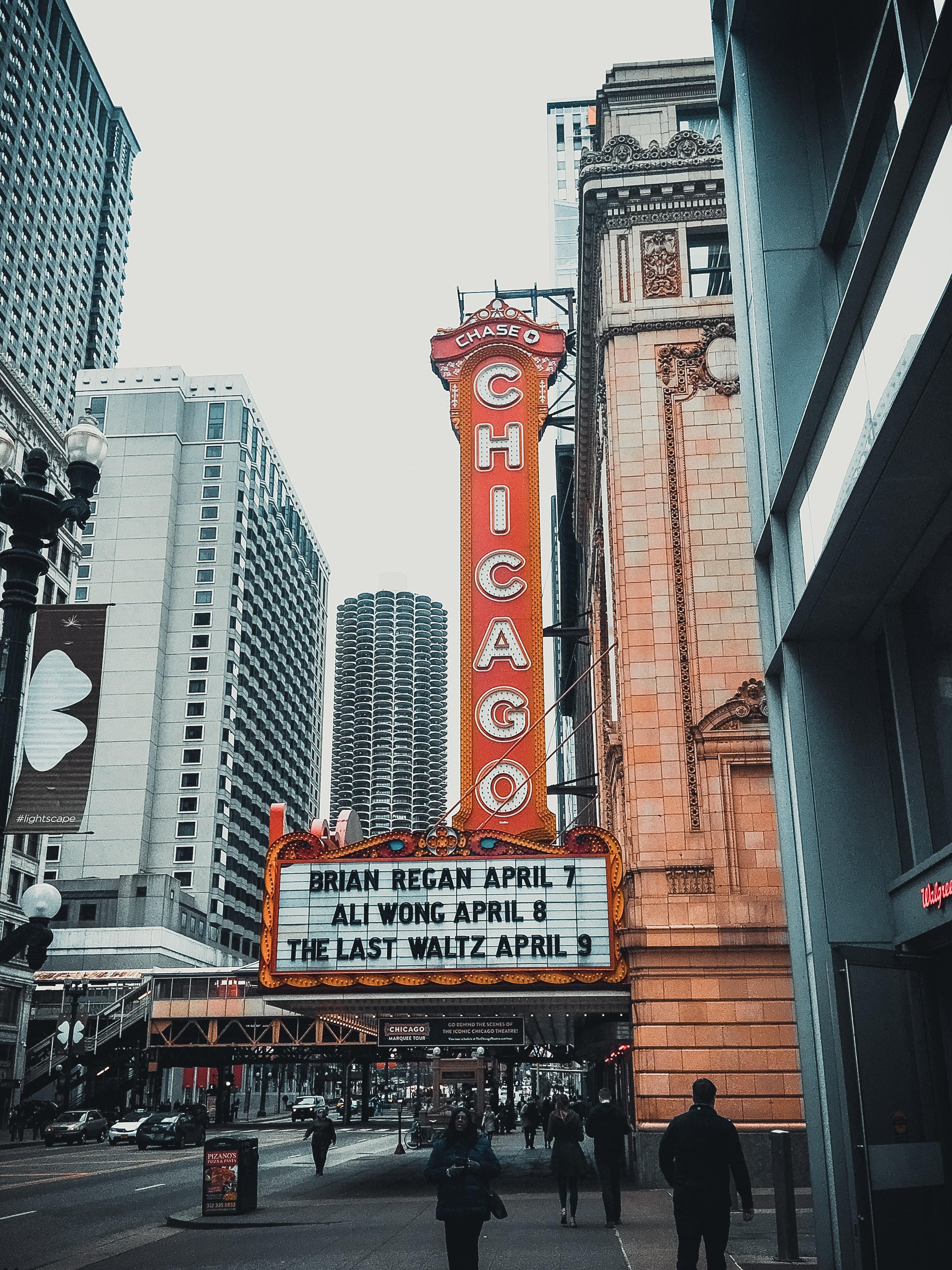 Chicago theater showing Brain Regan on April 7