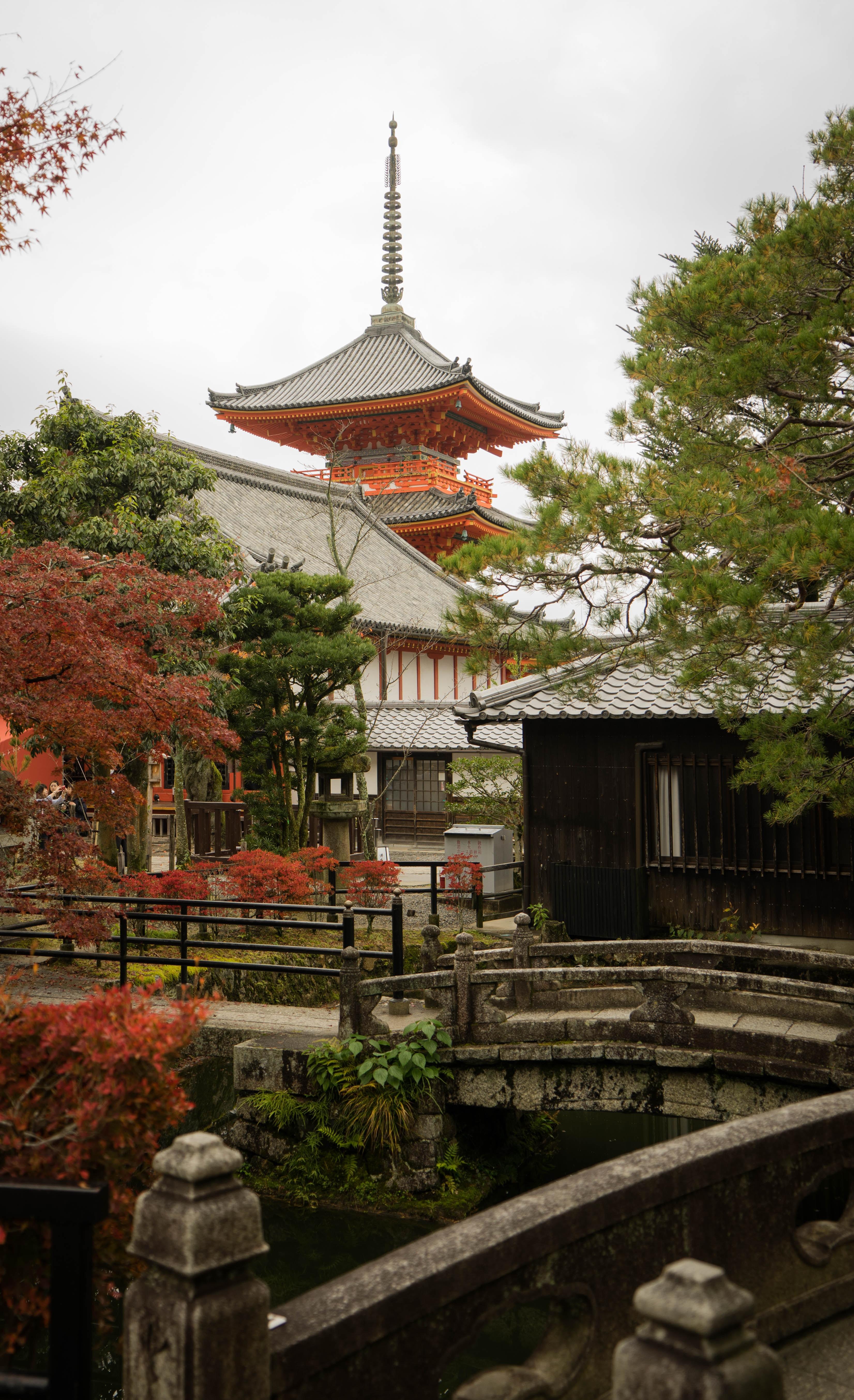 black and orange temple