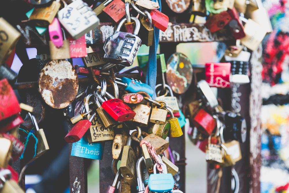 assorted padlocks