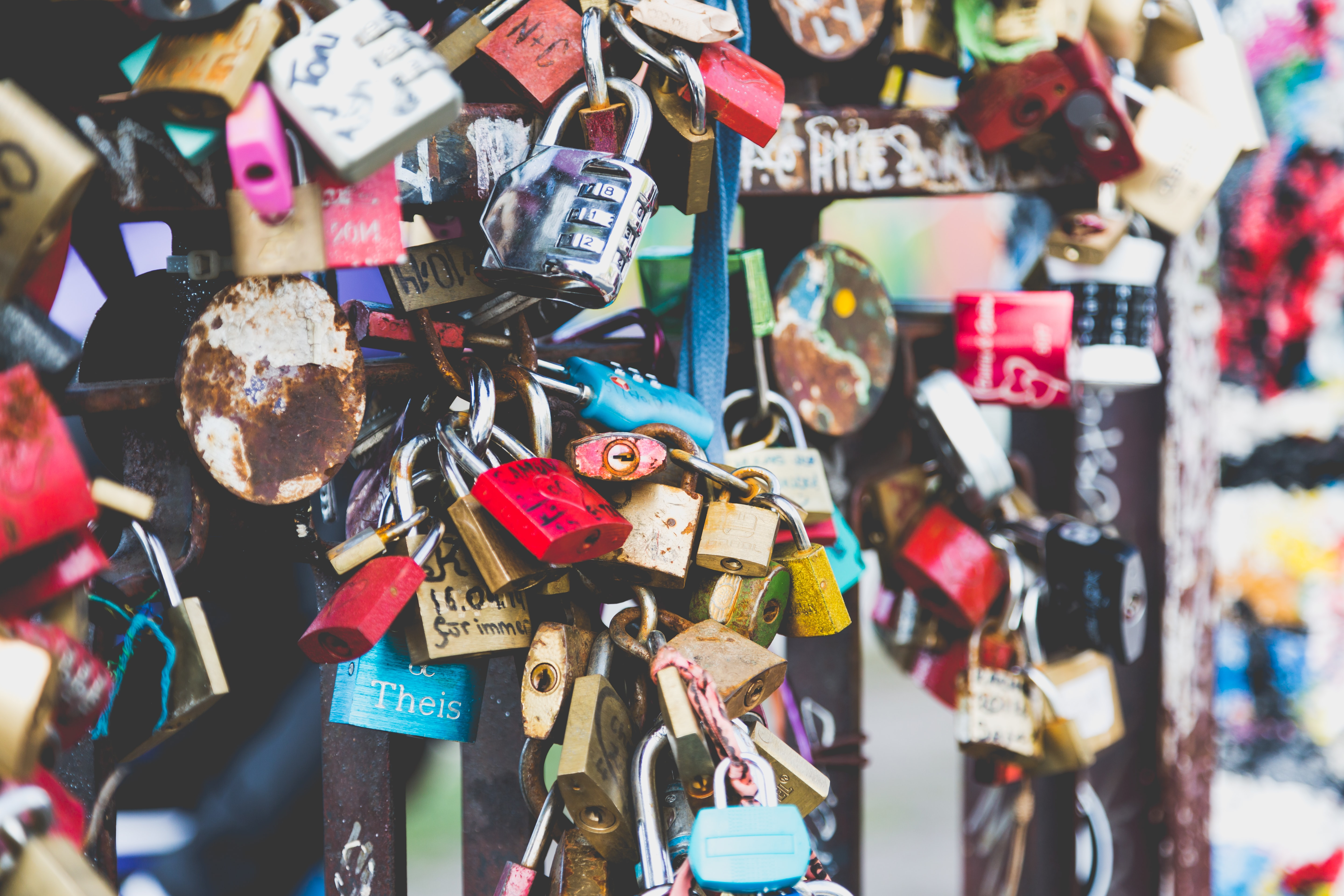 assorted padlocks
