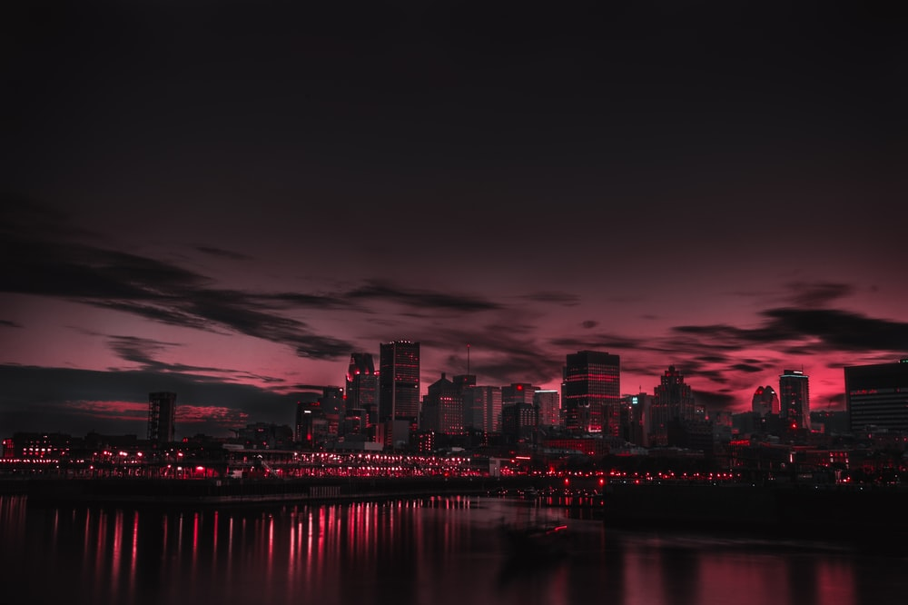 cityscape photography during golden hour
