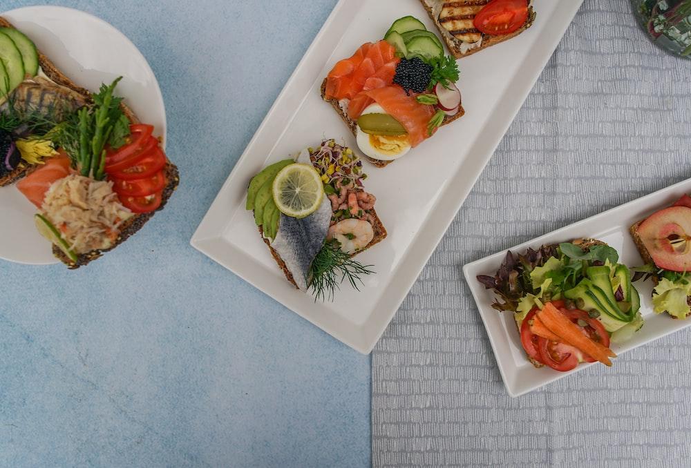 sliced foods on plate