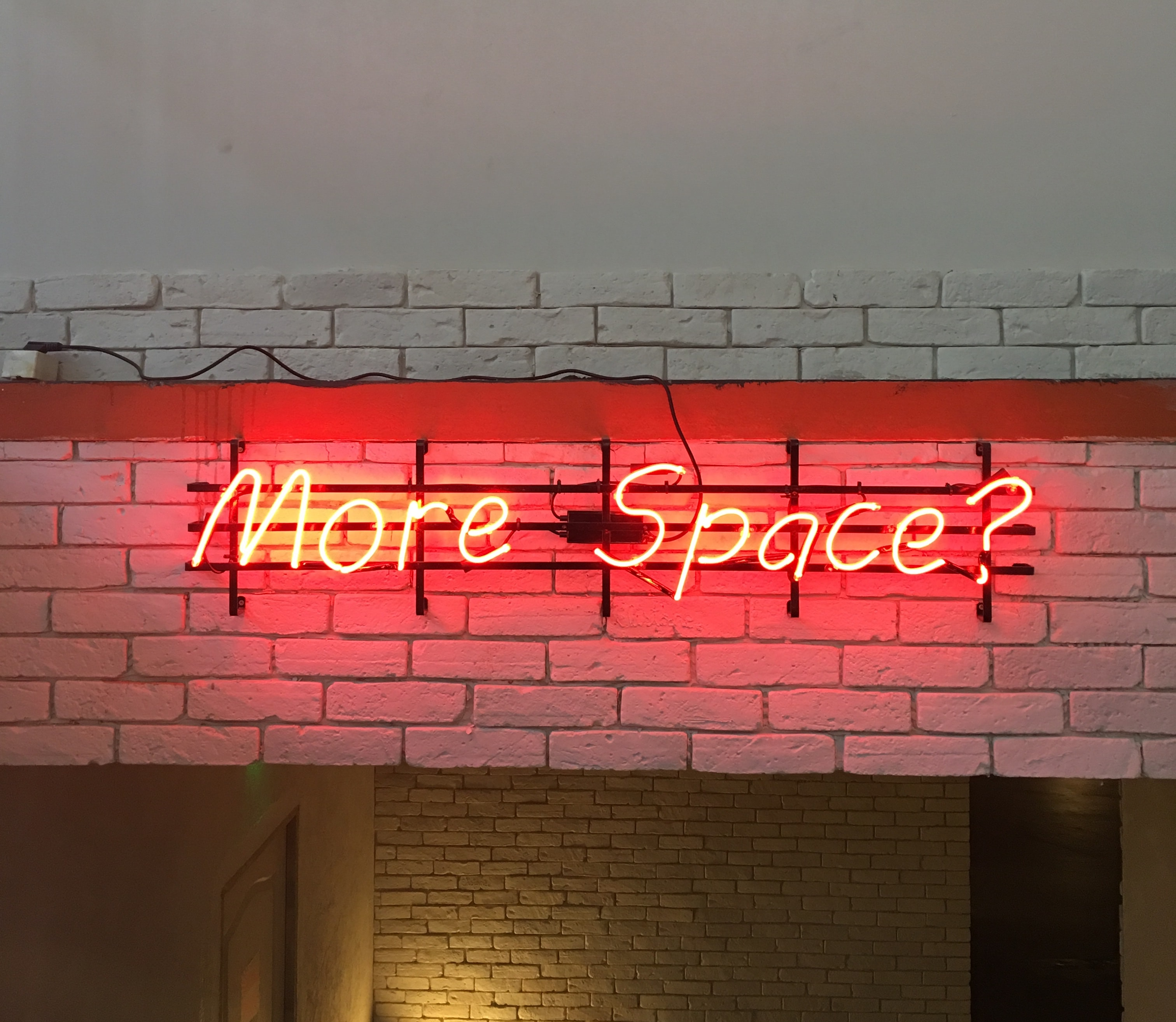 red More Space? LED signage