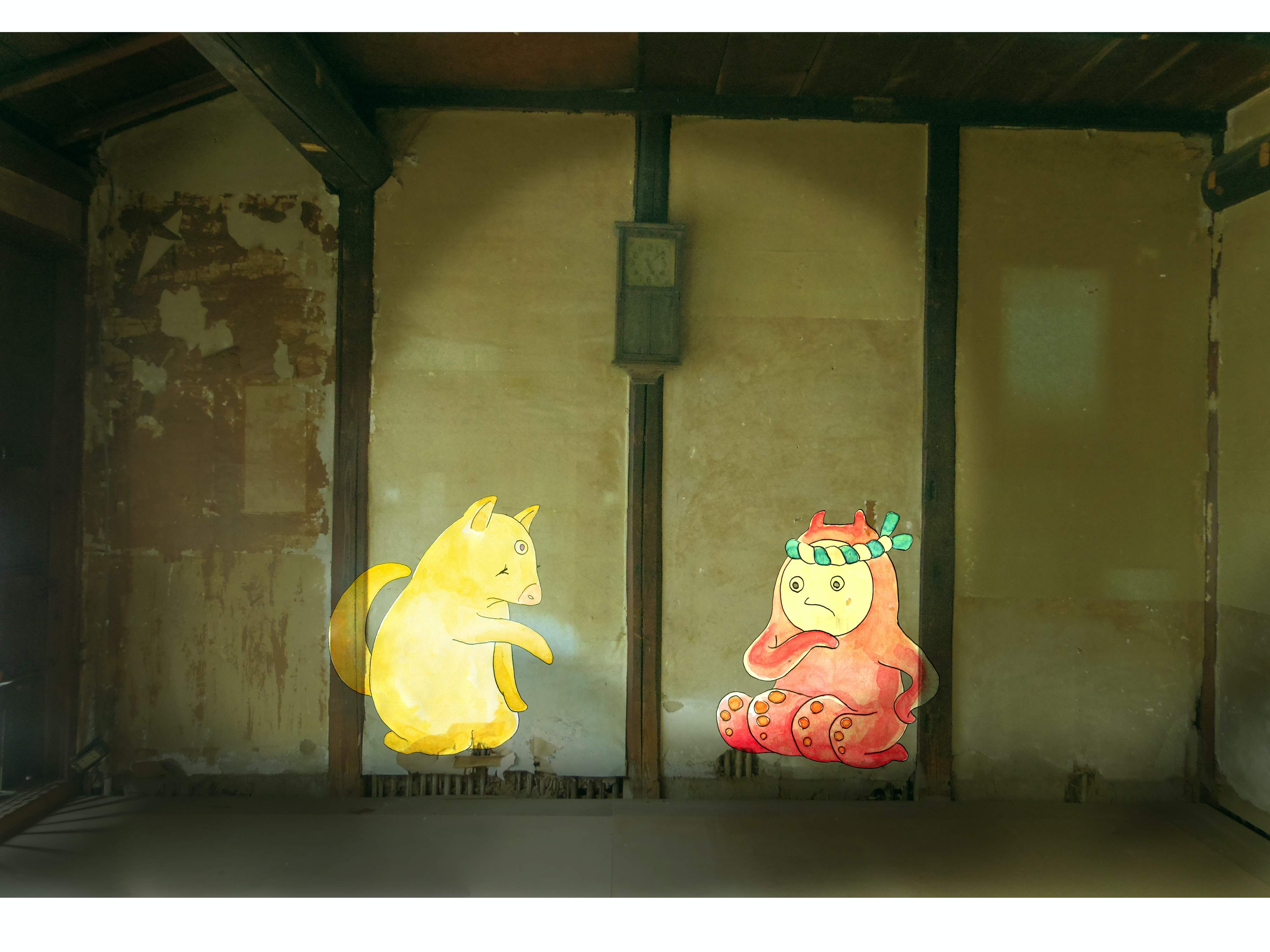 two cartoon characters illustration