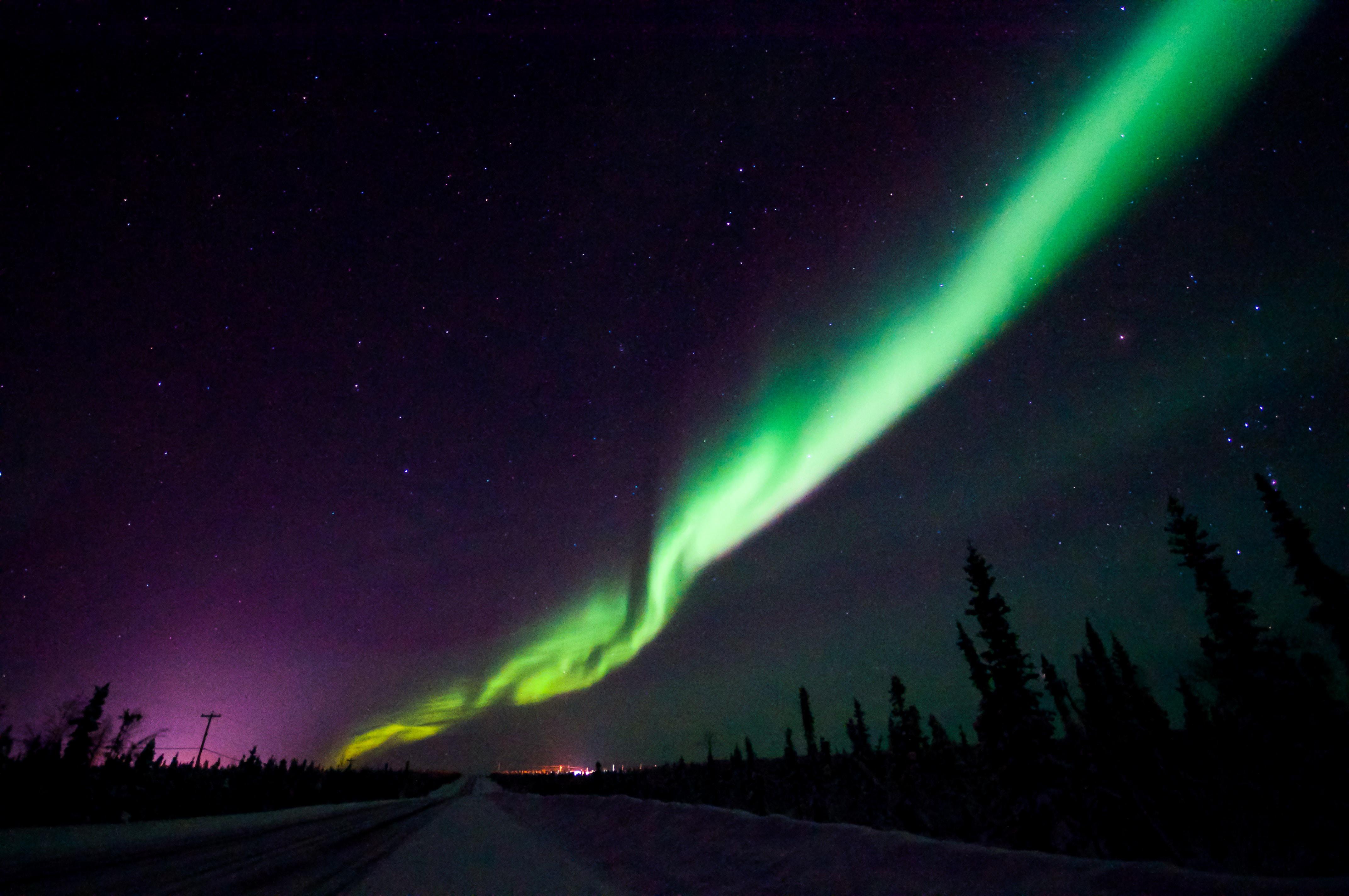green sky lights