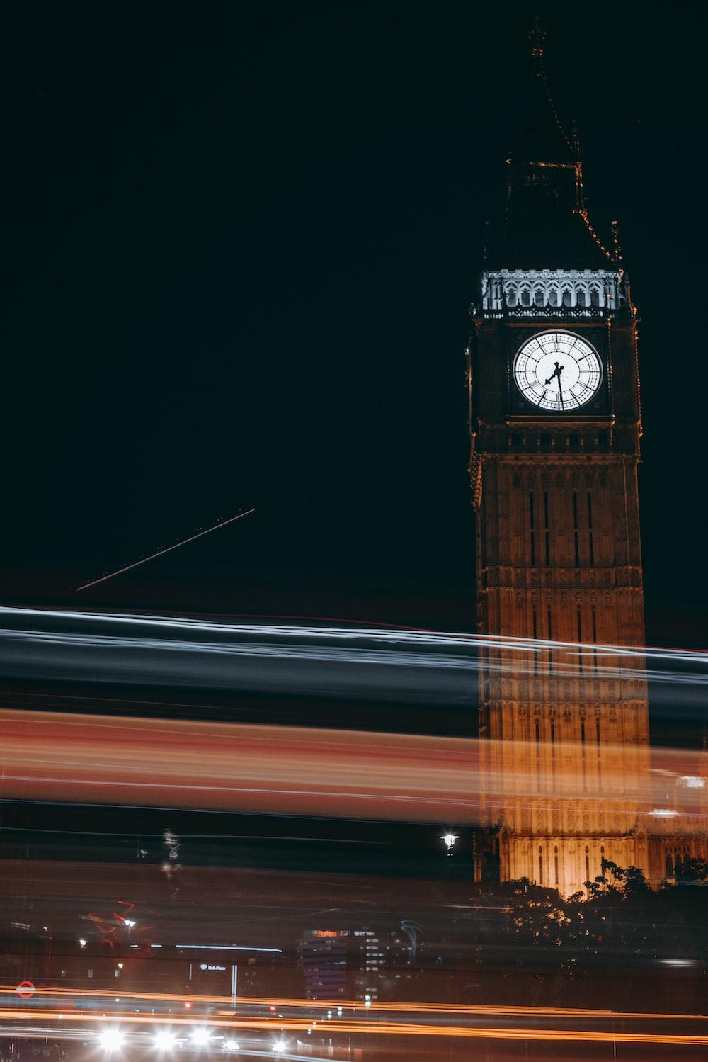 timelapse photography of Elizabeth Tower, London