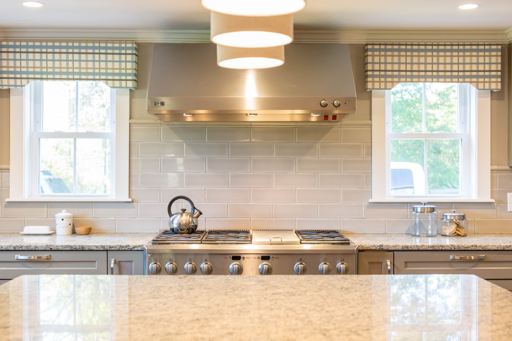 gray kettle on range stove