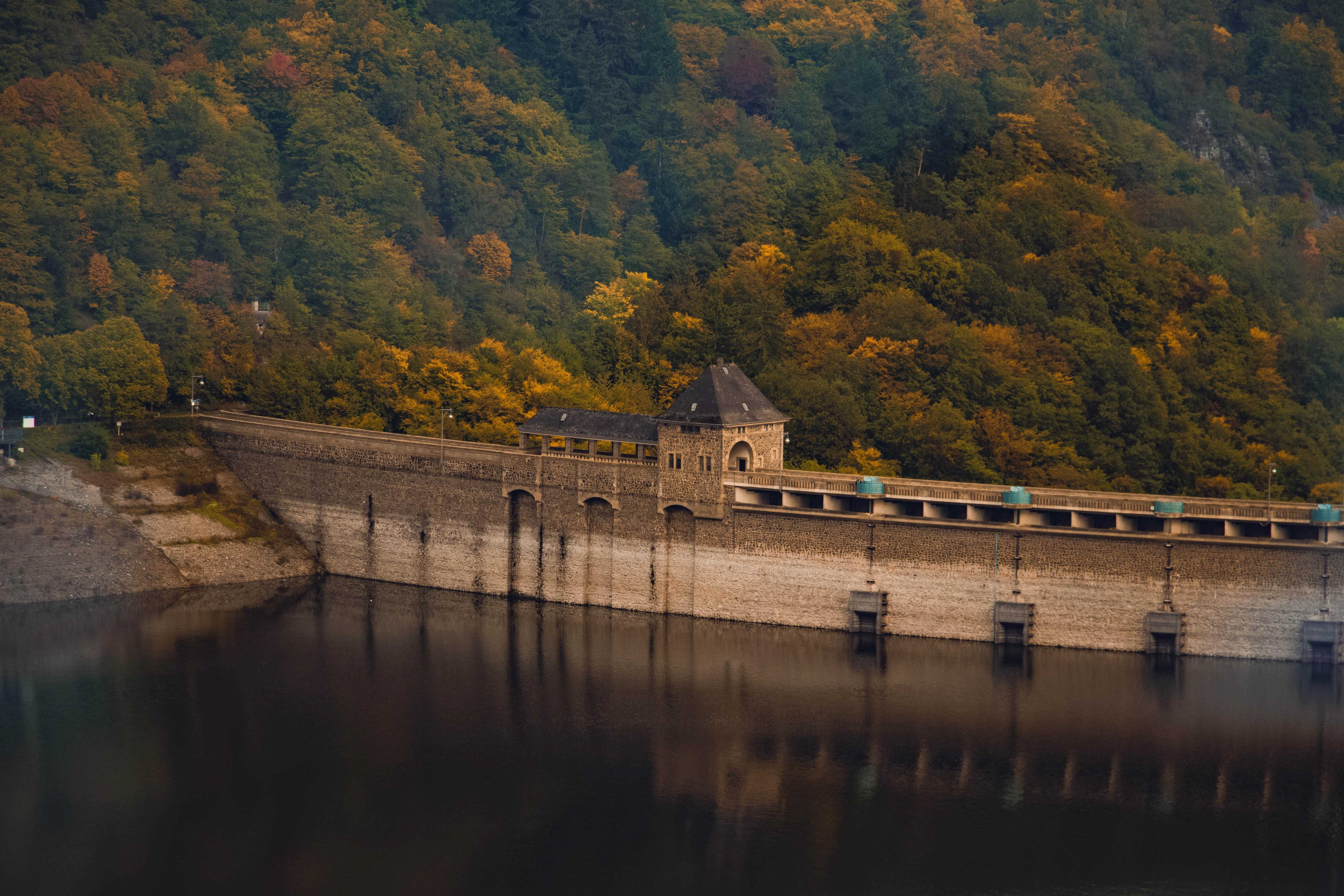 brown dam