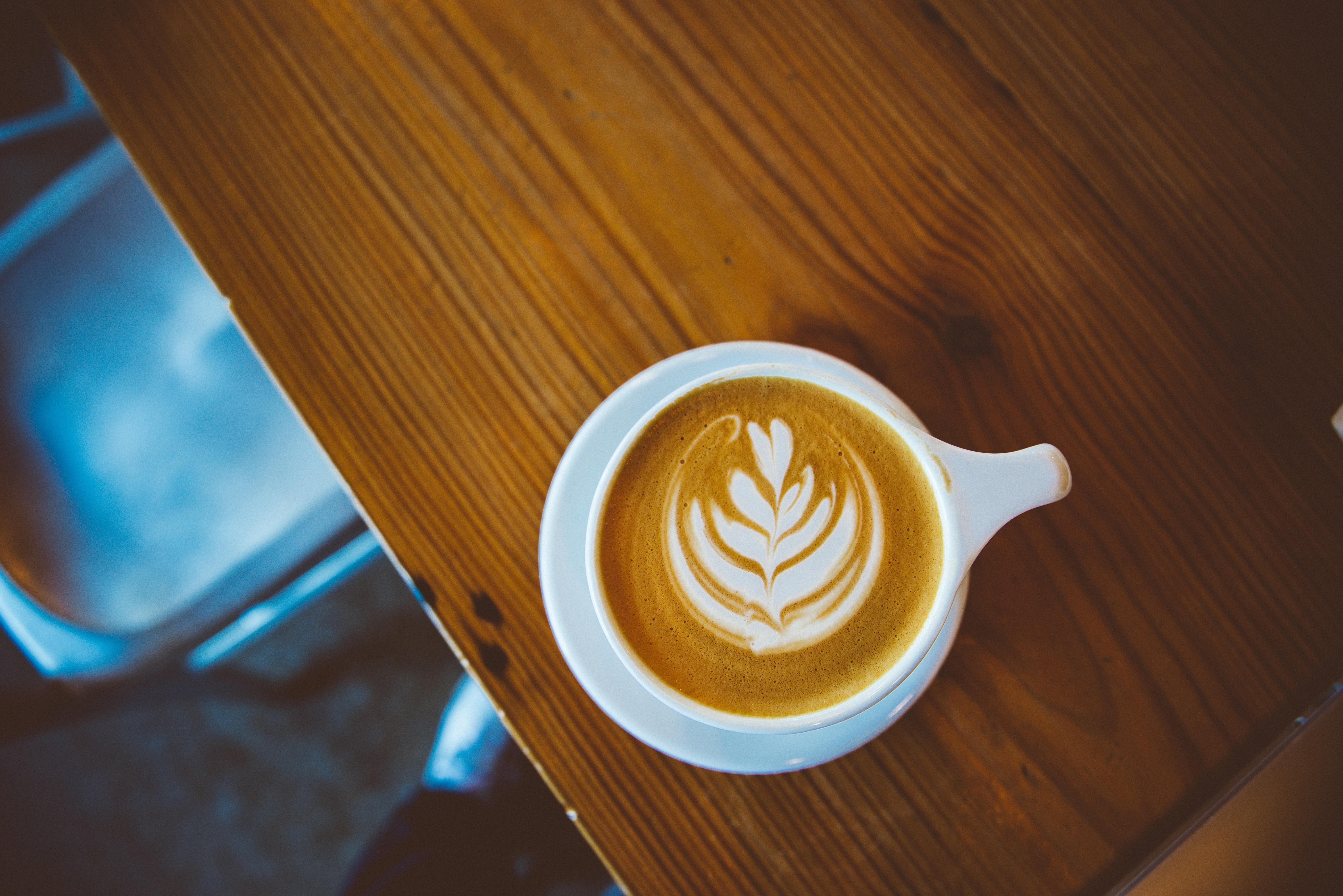 white mug with coffee