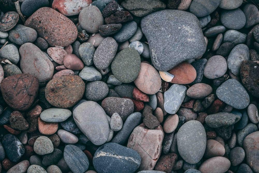 multicolored rock lot