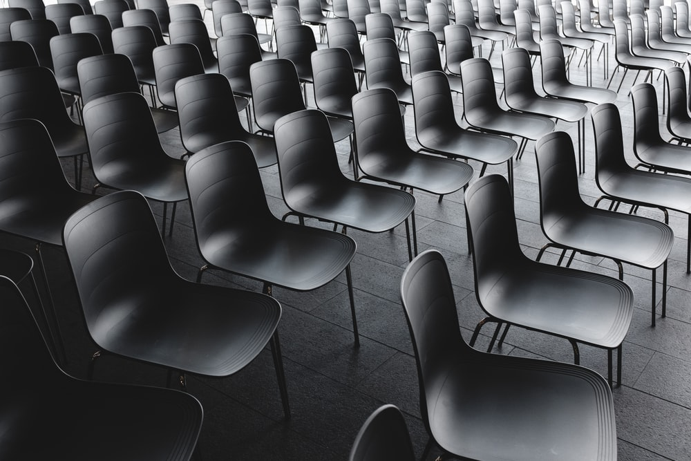 black chair lot