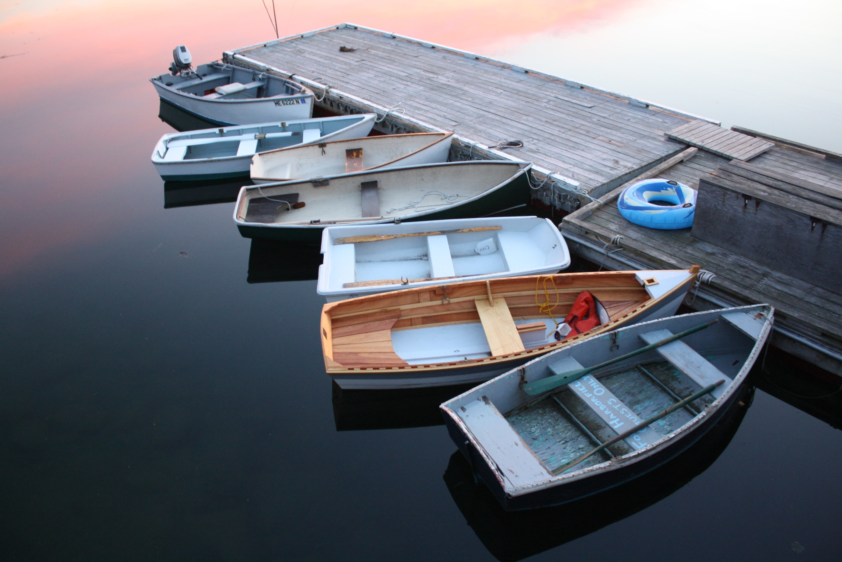 several boats on dock