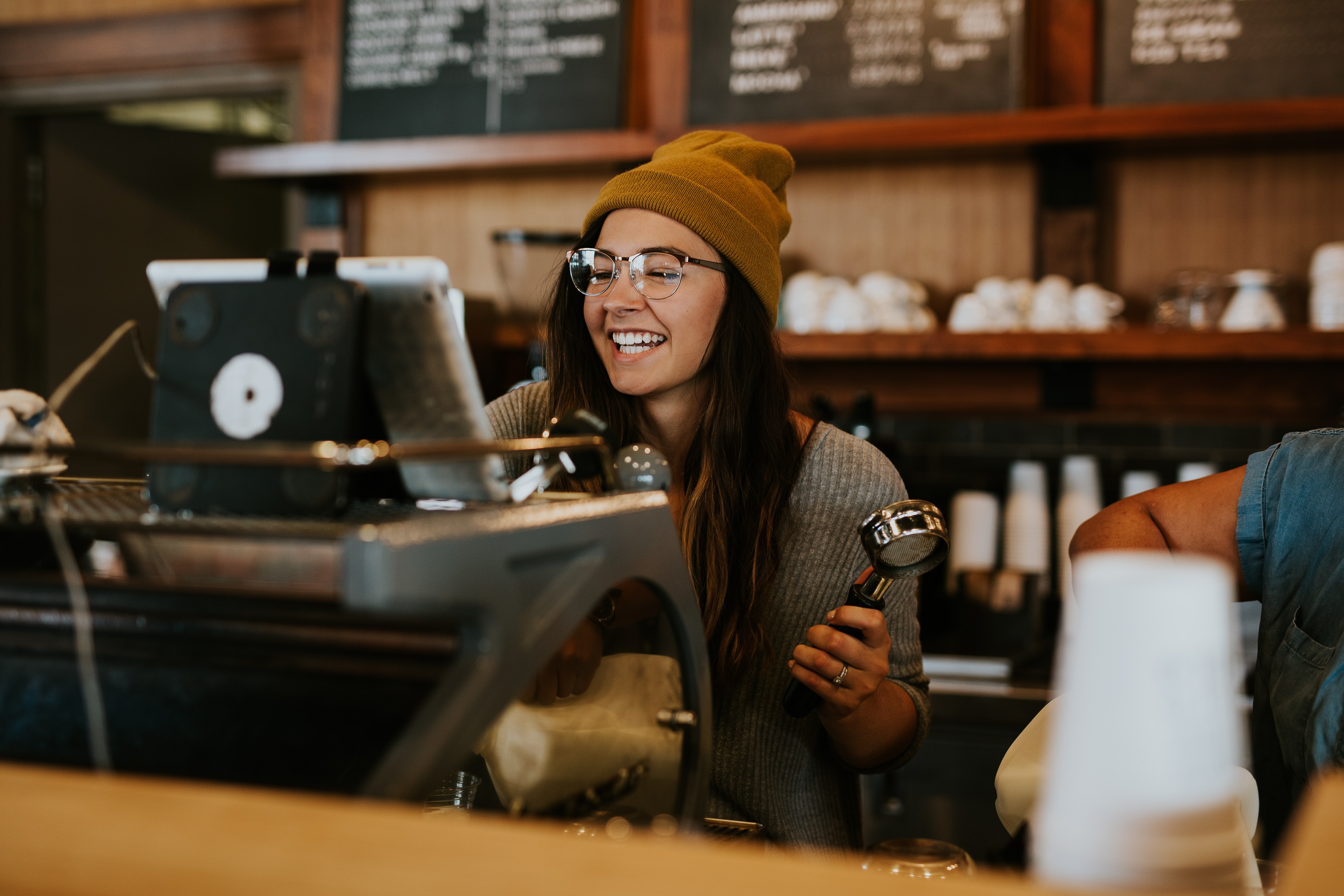 retail associate in a small business coffee shop