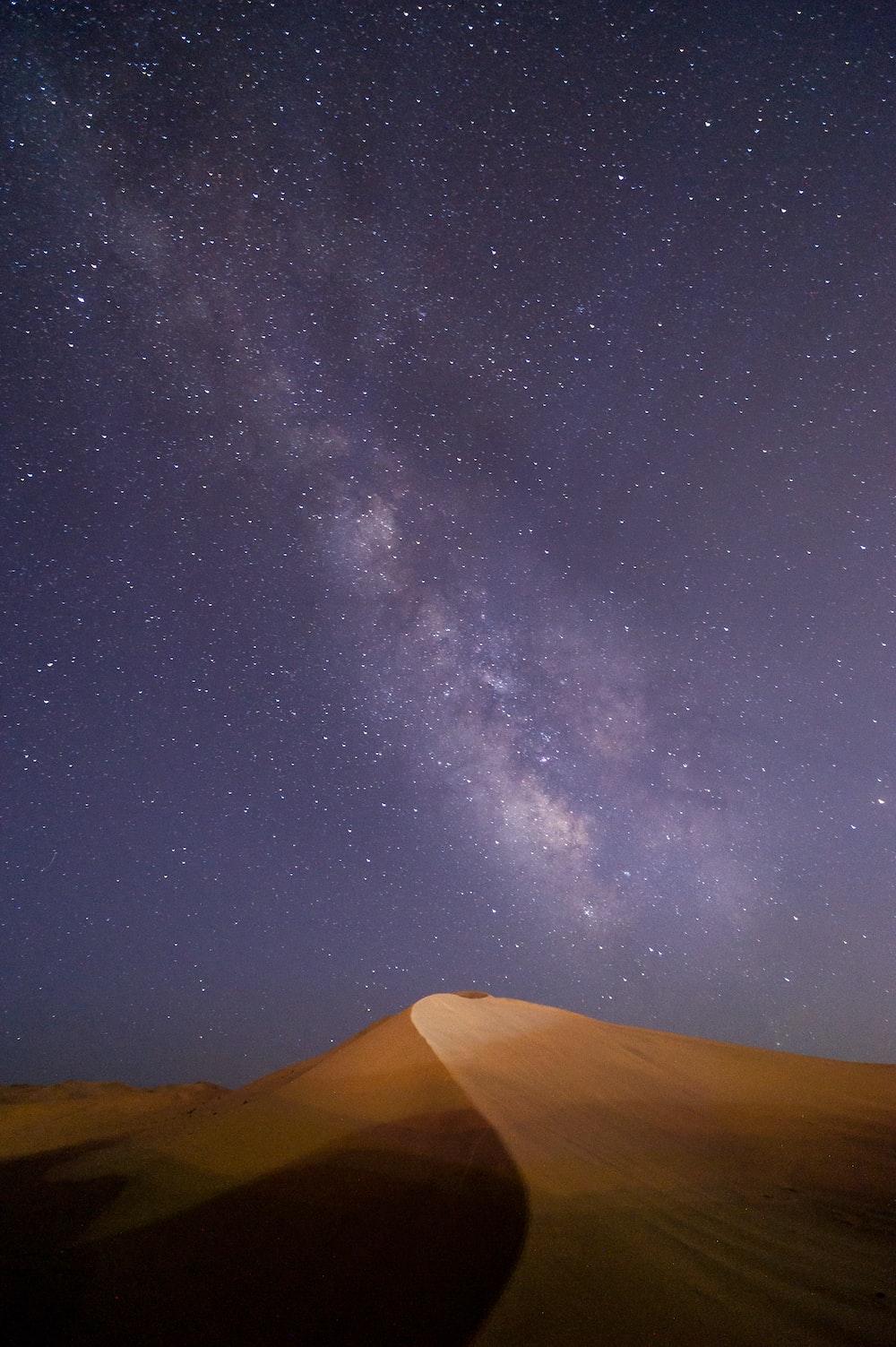 desert under milky way