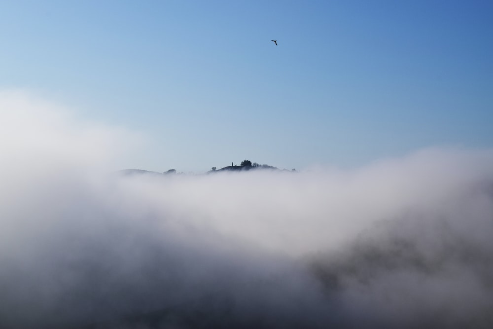 white cloud under blue sky