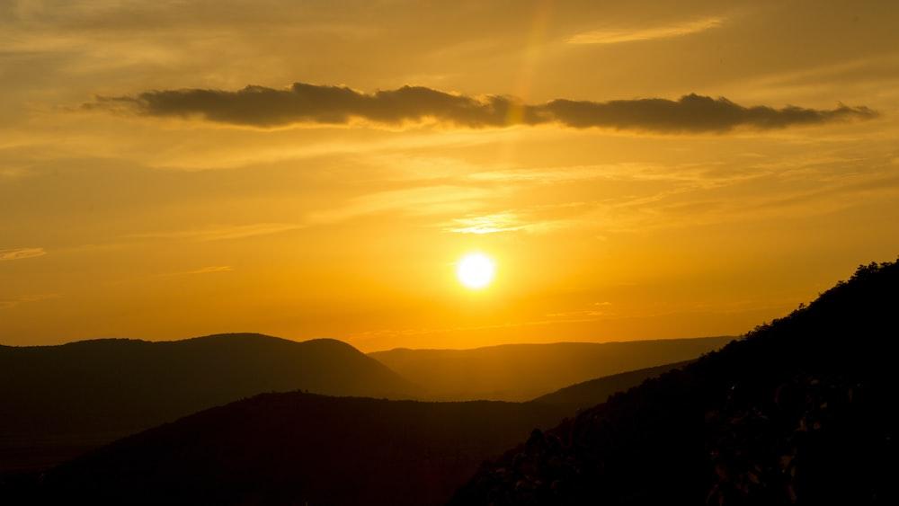 landscaped photo of a sun