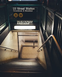 23 street station downtown stairs