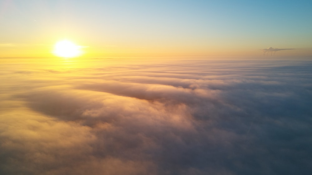 sunlight over clouds