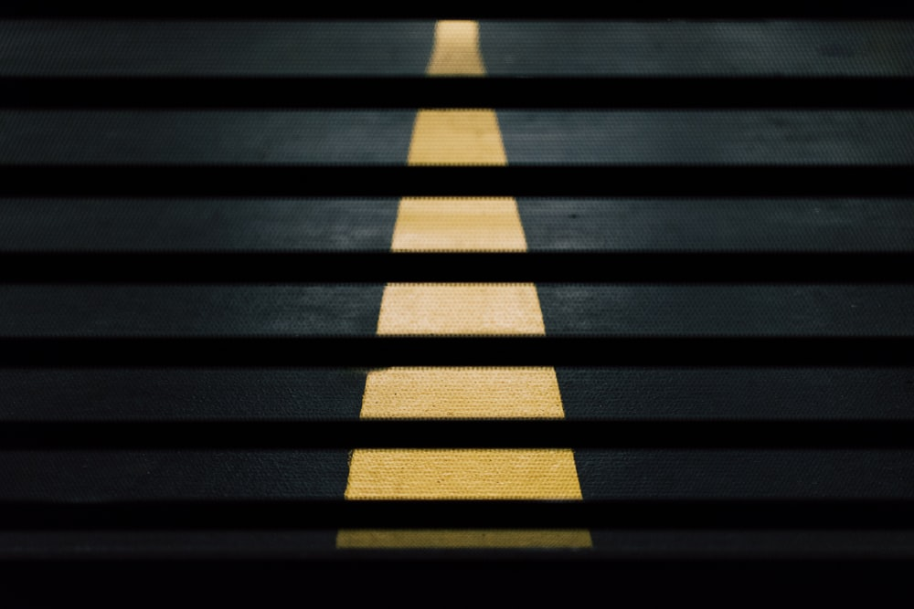 yellow pedestrian lane painting