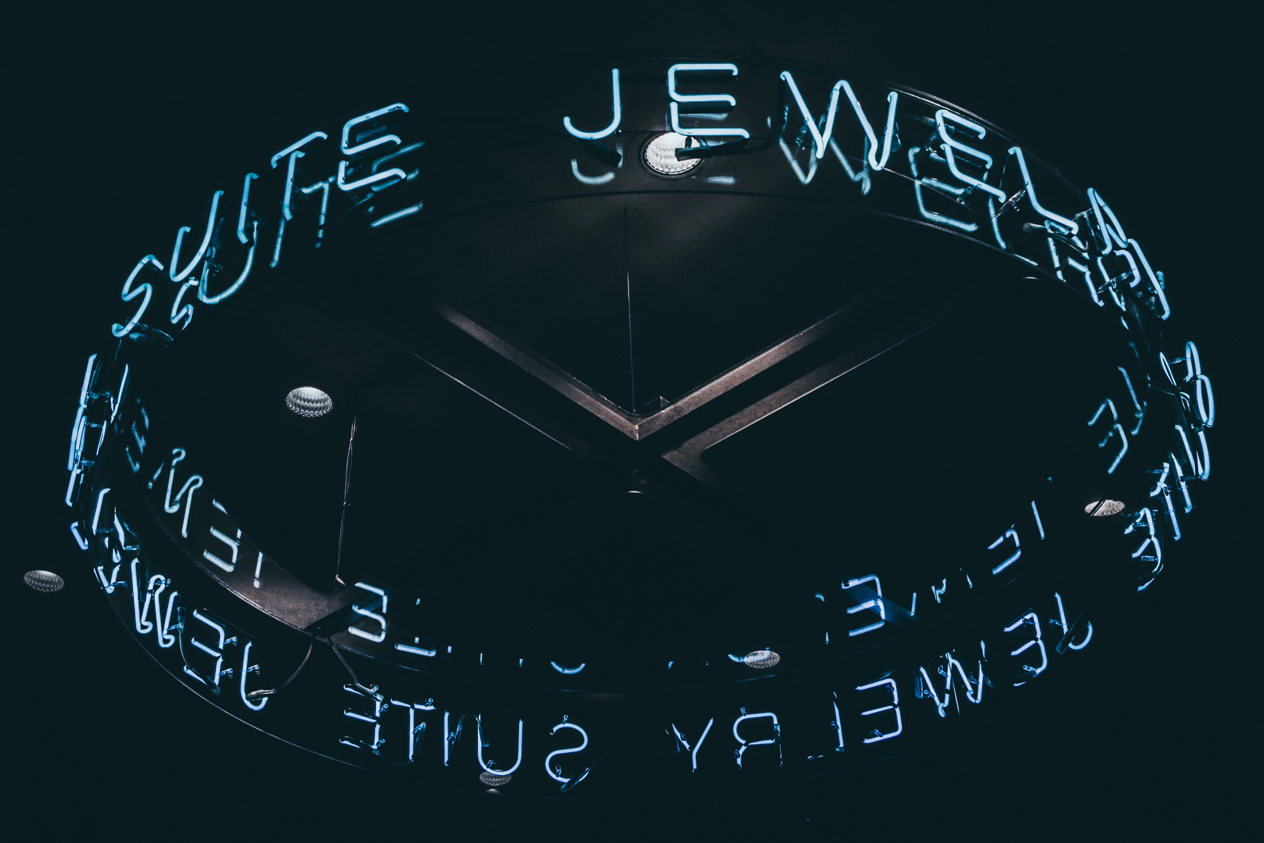 Jewelry suite lighted neon signage