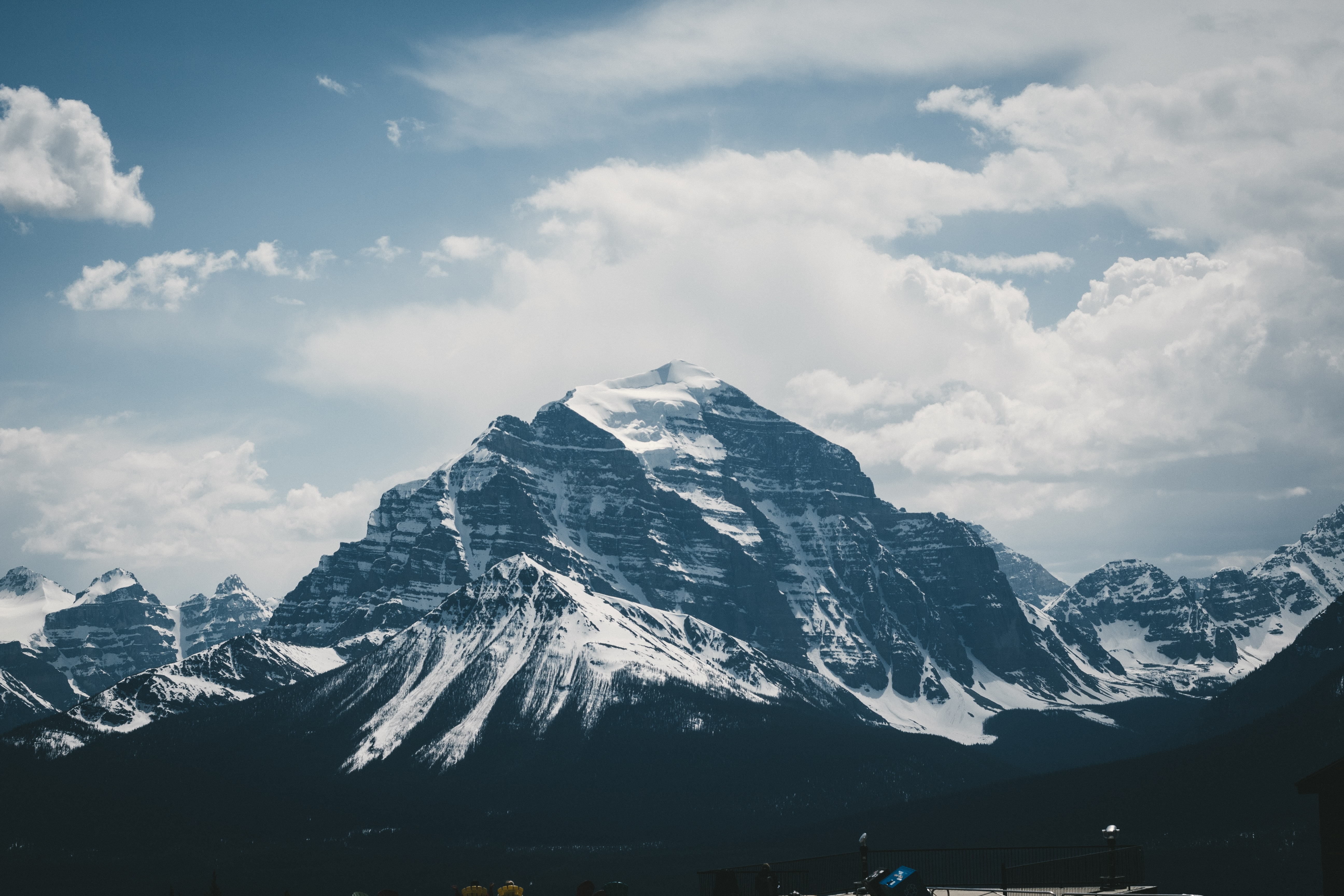 photo of mountain filled with white snow