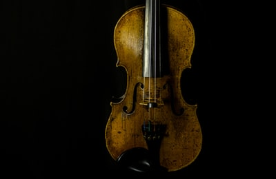 my fiancées violin. old, sounds good even when combined with metal guitars for my music…