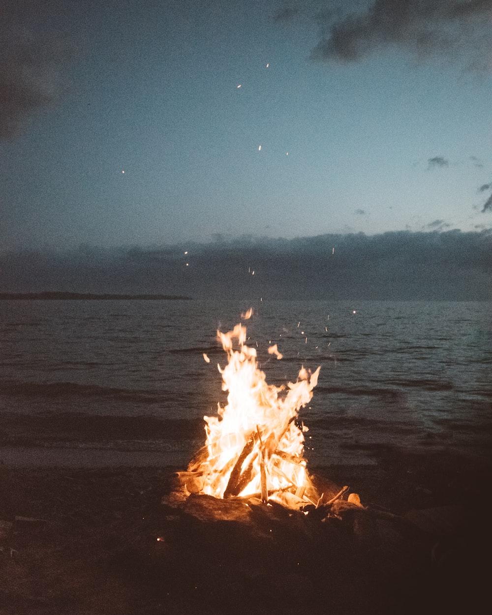 Fire near the sea