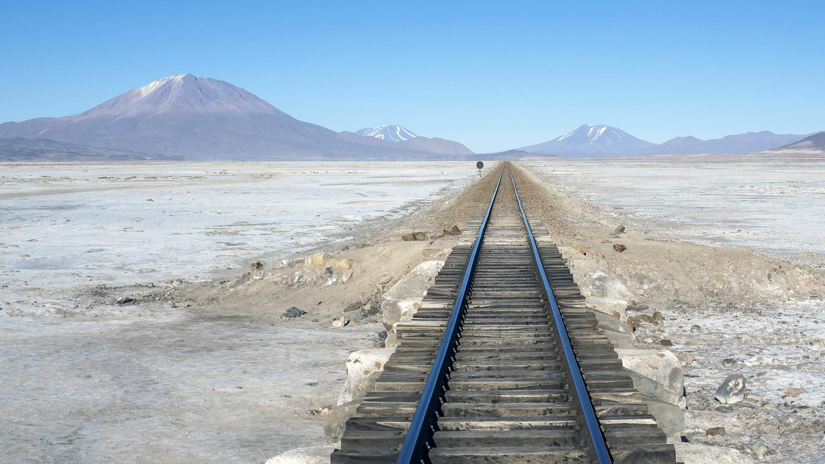 landscape photography of trail railway